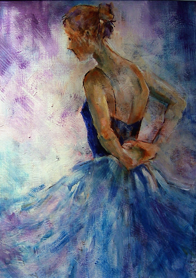 Ballet Dancer 47 - Gallery of Dance Paintings by Woking Surrey Artist Sera Knight