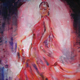 Flamenco Dancer - Ballet & Dance Gallery of Art - Paintings by Surrey Artist Sera Knight - Horsell, Woking Surrey England