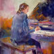 Piano Player (Grand Piano) Painting - Orchestra & Music Collection