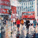 London Commuters Painting