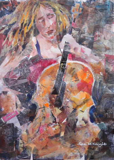 Cello Section - Absorbed Cellists  - Music Art Gallery of Surrey Artist Sera Knight