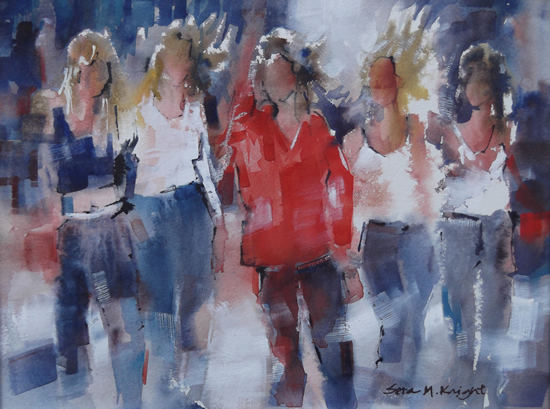 Art Gallery - The Girls - Watercolour Painting