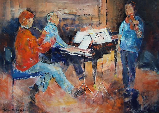 Woking Art Gallery - Classical Musicians at Rehearsal - Woking Art