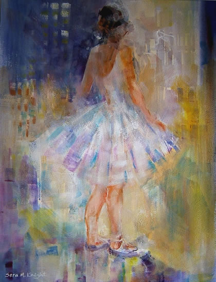 Ballerina - Gallery of Dance Paintings by Woking Surrey Artist Sera Knight