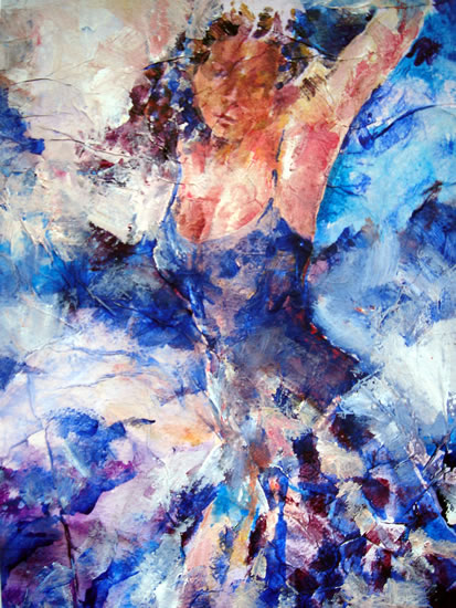 Passionate Dancer - Painting by Surrey Artist Sera Knight
